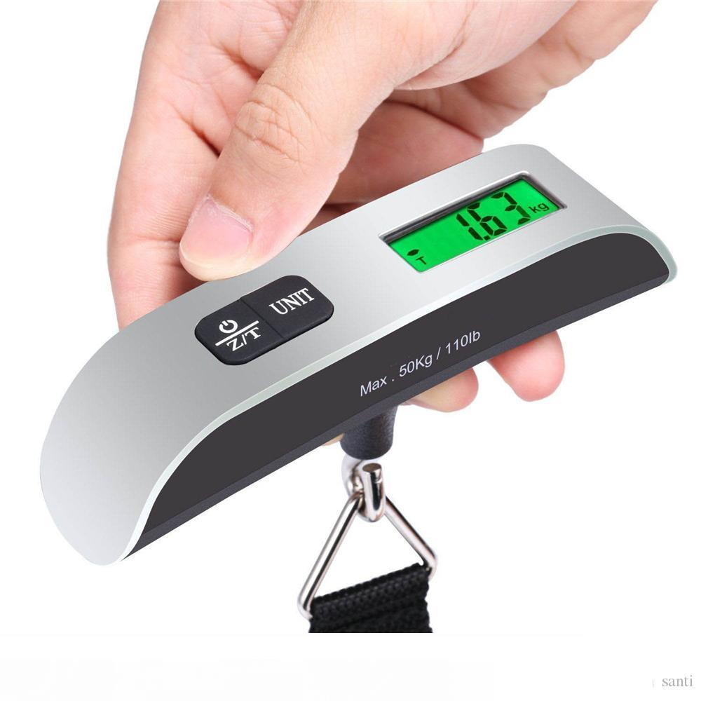 Fashion Hot Portable LCD Display Electronic Hanging Digital Lage Weighting Scale 50kg * 10g 50kg 110lb Weight Scales