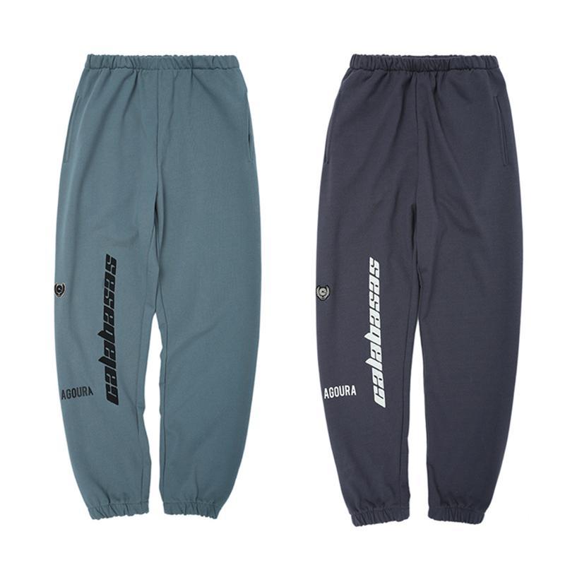 Сезон 6 CALABASAS брюки Мужчины Женщины хип хоп мода йога брюки полосатые негабаритные спортивные брюки
