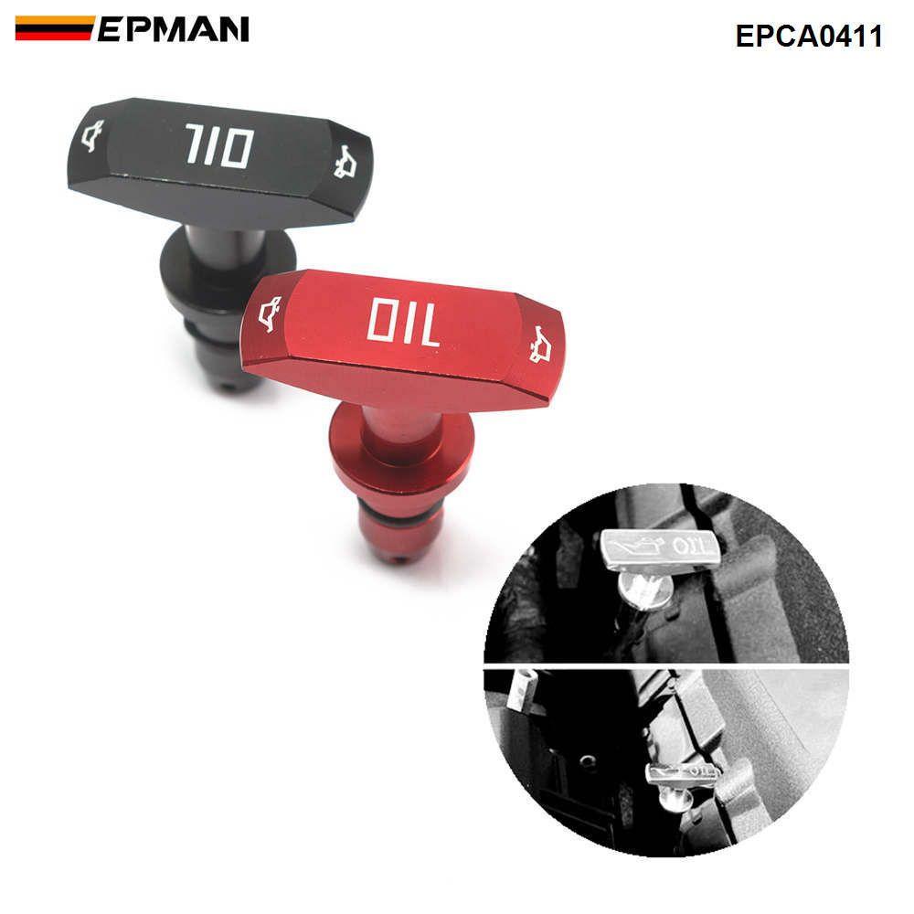 EPMAN Billet алюминий автомобилей Масло Dipstick Прицепные Ручка Auto Замена моторного масла Ручка для Ford Mustang GT V8 GT500 EPCA0411