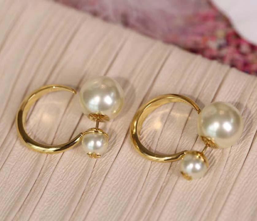 Gancio qualità Moda-Top orecchino con perla per le donne fascino gioielli regalo PS5690A trasporto libero