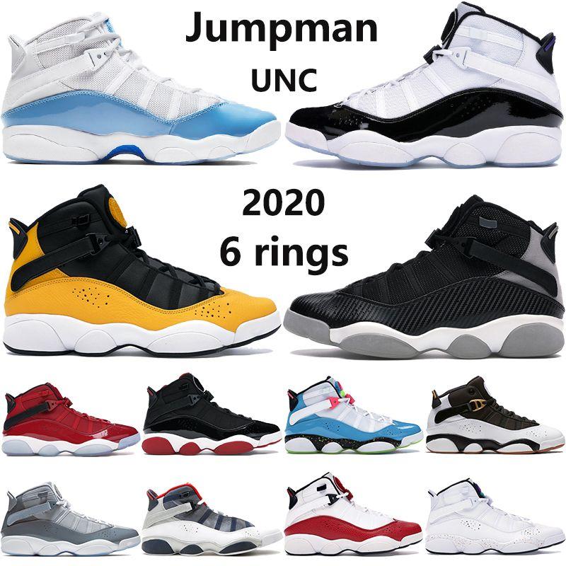 Nuevos 6 6s anillos zapatos de baloncesto de Jumpman UNC criado momentos decisivos del equipo Concord taxis confeti real mujeres de los hombres zapatillas de deporte al aire libre