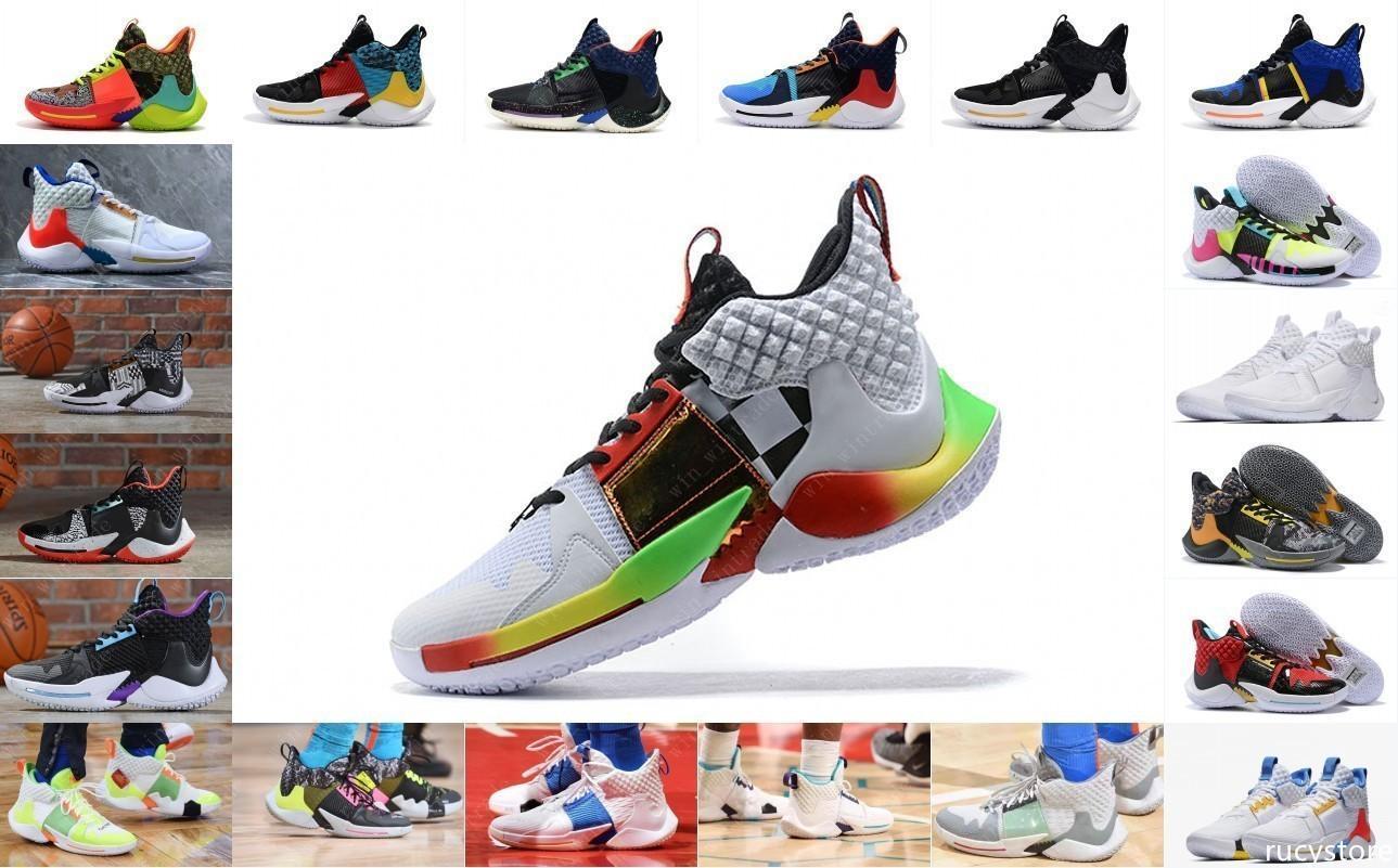 2019 nouveau pourquoi pas des chaussures de basket-ball hommes 0.2 chaussures de sport Russell Westbrook II zer0.2 baskets zéro 2 formateurs d'origine nous taille 40-46