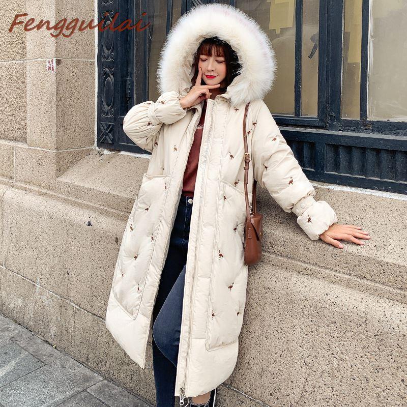 Mode féminine chaud laine avec capuche Manteau Femme coupe-vent en fourrure à capuchon Thicken de poche Manteaux d'hiver Parka Doudounes Femme