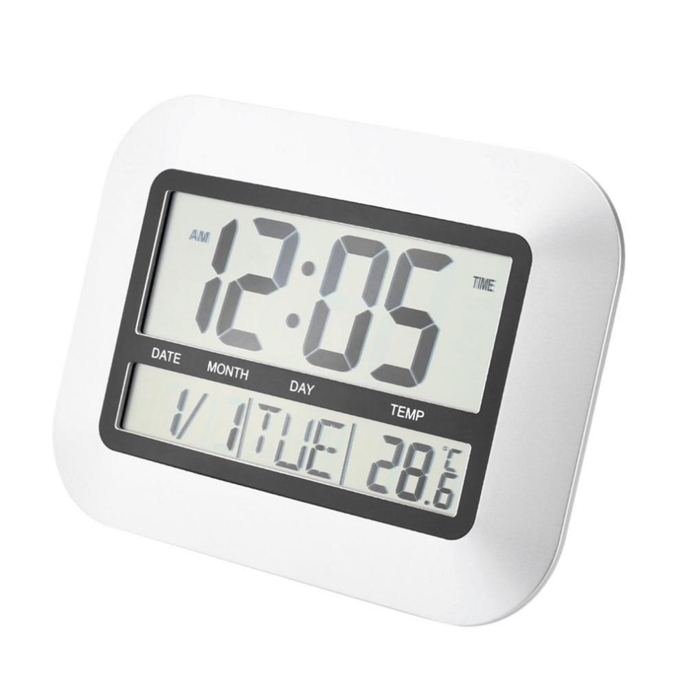 Kapalı Sıcaklık LCD Dijital Sıcaklık Ölçer TS-H128Y ile Yüksek Doğruluk Kendinden Ayarı Dijital Ev Ofis Dekorasyonu Duvar Saati