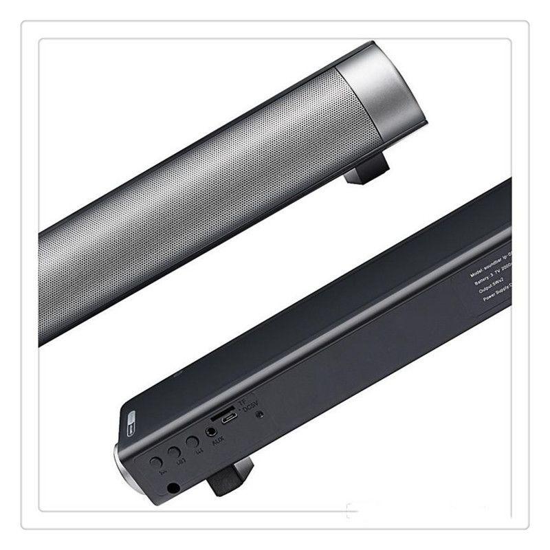 Soundbar Speaker LP-08 Wireless Bluetooth TV SoundBar Subwoof Speaker Enhanced TV Remote Control Card Plugging Bluetooth Speaker