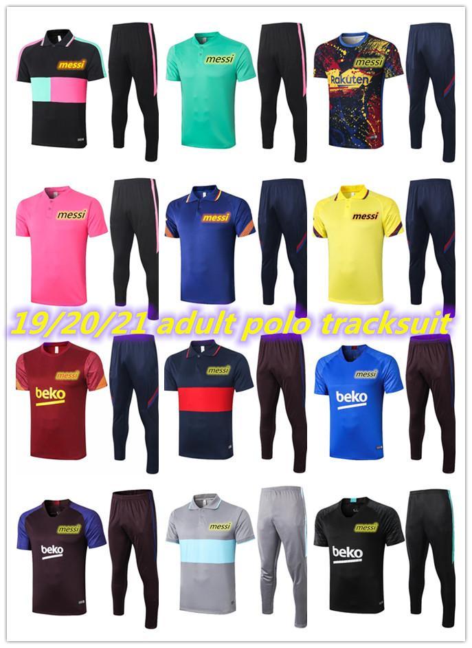 20 21 MESSI Short sleeve polo shirt soccer training suit 2020 2021 COUTINHO SUAREZ O.DEMBELE PIQUE football short tracksuit