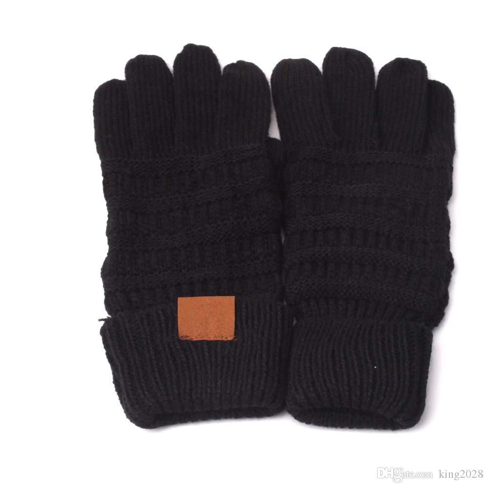 الشتاء محبوك القفازات المصنوعة في الصين التي تعمل باللمس قفازات شاشة 8 ألوان الموضة تمتد الصوفية حك fation الدافئة للجنسين اصبع كاملة