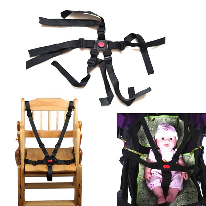 العالمي الطفل 5 أحزمة المقاعد نقطة تسخير الآمن حزام للعربة مقعد مرتفع عربة عربة الأطفال الطفل حزام اكسسوارات العربات