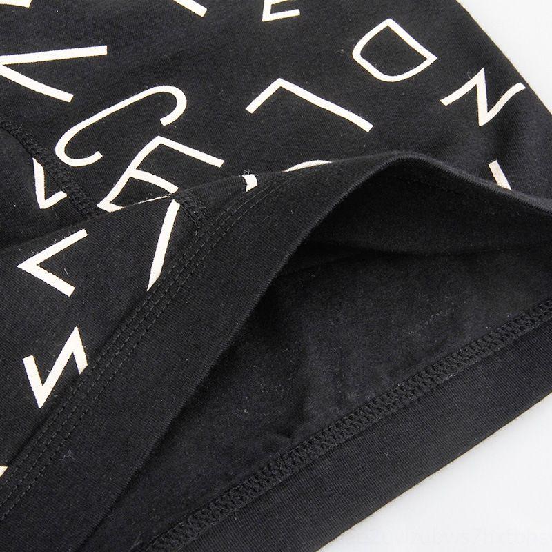 los pantalones del boxeador de la ropa interior de los hombres KNQBe Langsha ropa interior y cortocircuitos de los hombres de algodón puro de la entrepierna de tela transpirable carta cortocircuito de la impresión de cuatro esquinas