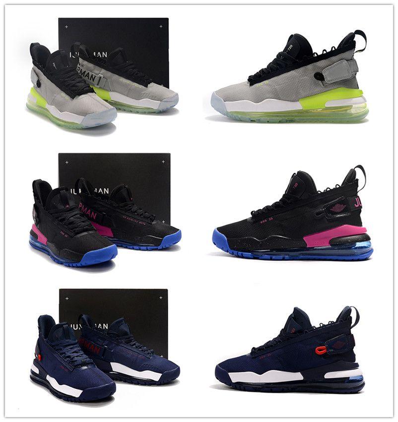 2019 جديد colorway لبروتو النيون التدرج الأخضر إلى الأزرق تسولي أحذية رجالية الرياضة Jumpman 23 الأرجواني الملكي الرجال مصمم مدرب