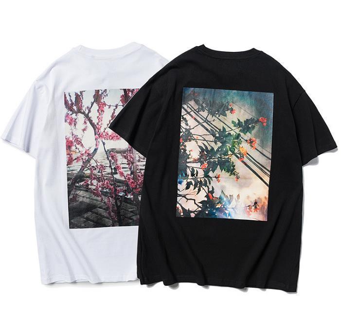 Erkek tasarımcı t shirt Yeni FG çiçek gevşek aynı paragraf kısa kollu yaz Of karmaşık çift sınırlı