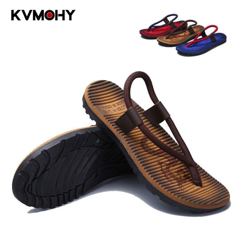 Zapatos de hombre Chanclas de verano Zapatillas nuevas Zapatillas antideslizantes para hombre Zapatillas de chanclas a rayas de moda Chanclas para hombre