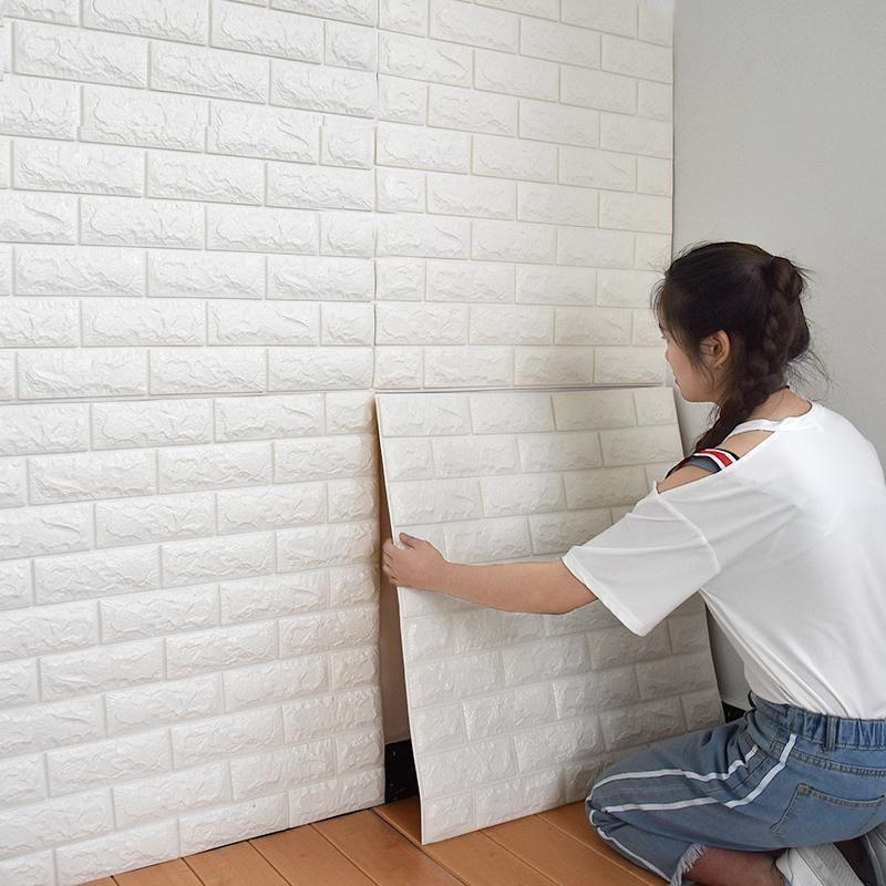 Papiers peints Home Decor Fonds d'écran pour le salon 3D Fond d'écran auto-adhésif embossé imperméable Soundproof moderne Wall Sticker