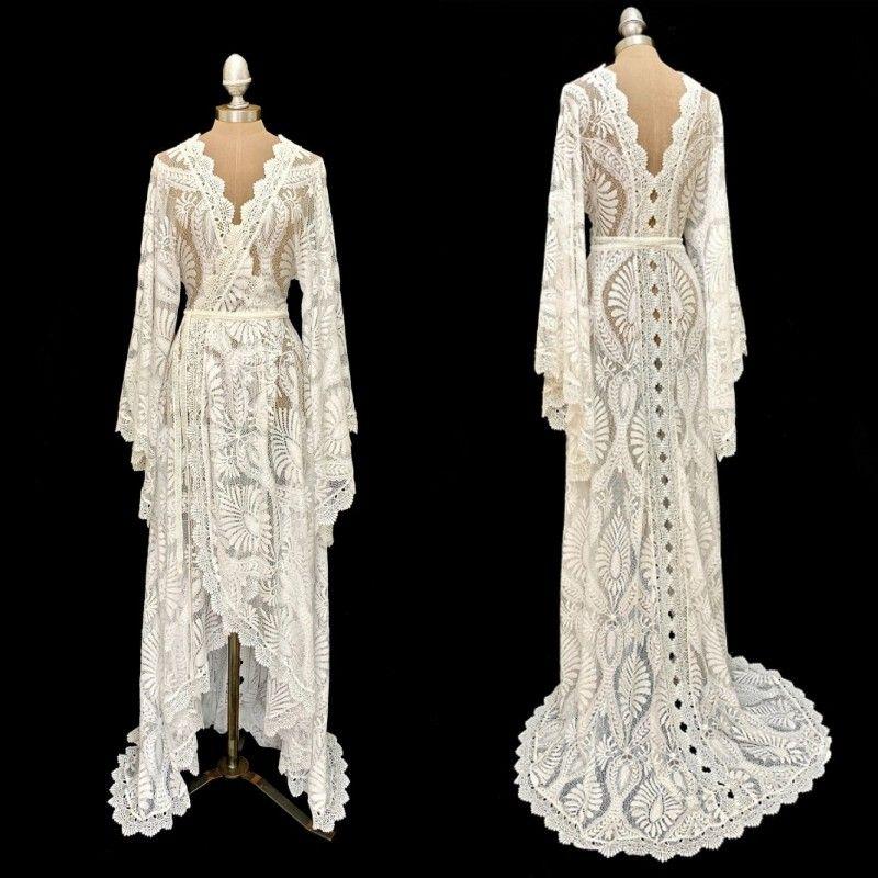 2020 últimas novias de estilo bohemio Cape Mangas largas de lujo de encaje de lujo chaqueta larga chaqueta bolero fabricante