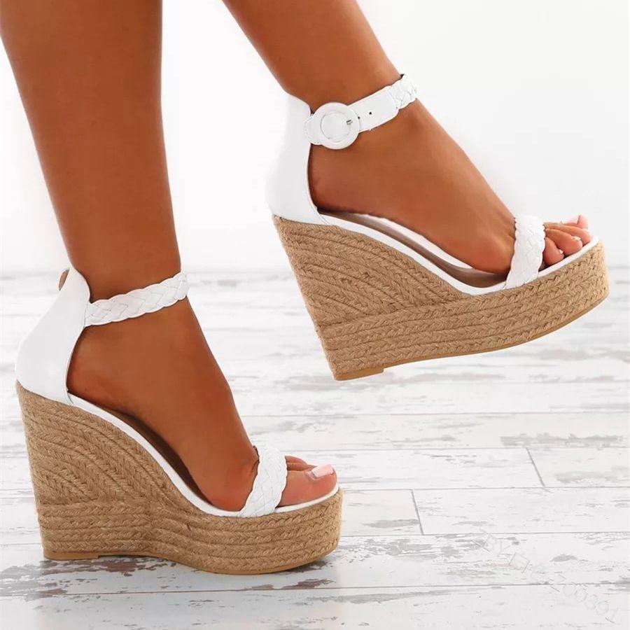 Hot Sale Women Straw Shoes Big Size