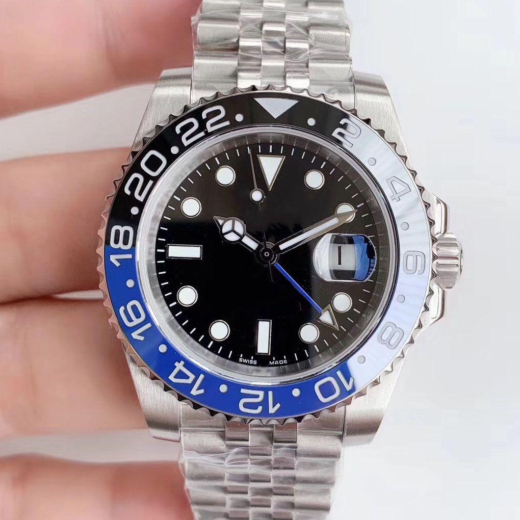 Sıcak Satış GMT Seramik Bezel Lüks İzle Otomatik Reloj Usta Mekanik Jubilee bilezik saatı Saatler
