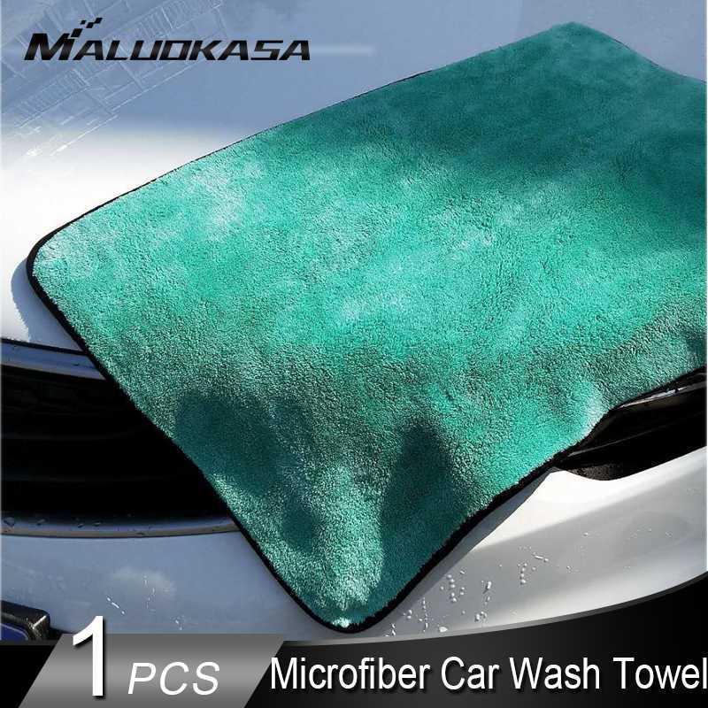 Car Wash Pulizia morbida microfibra asciugamani in microfibra Car dettagli Rag per il panno Cura polacco Spesso peluche asciugatura Assorbimento