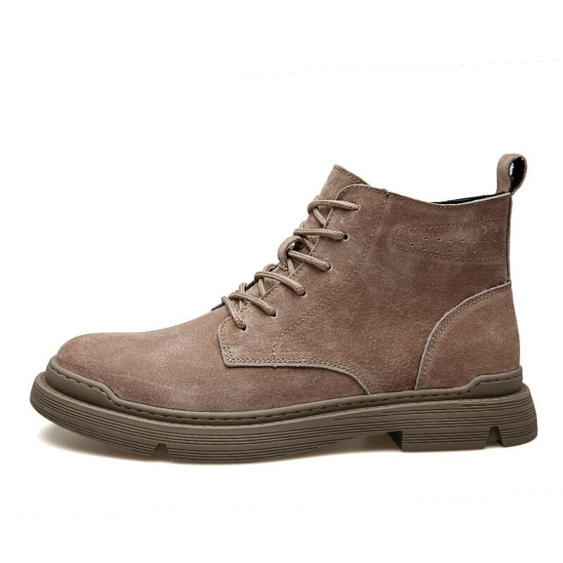 Men Leather Boots Comfortable Fashion