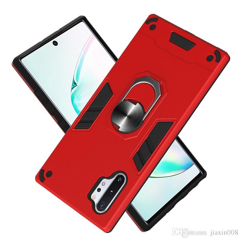 Für Samsung Galaxy Note 10 Pro Magnetic Auto Telefon rückseitige Abdeckung für Samsung-Anmerkung 10 Pro 5G Rüstung Metall Auto Ring-Halter-Kasten