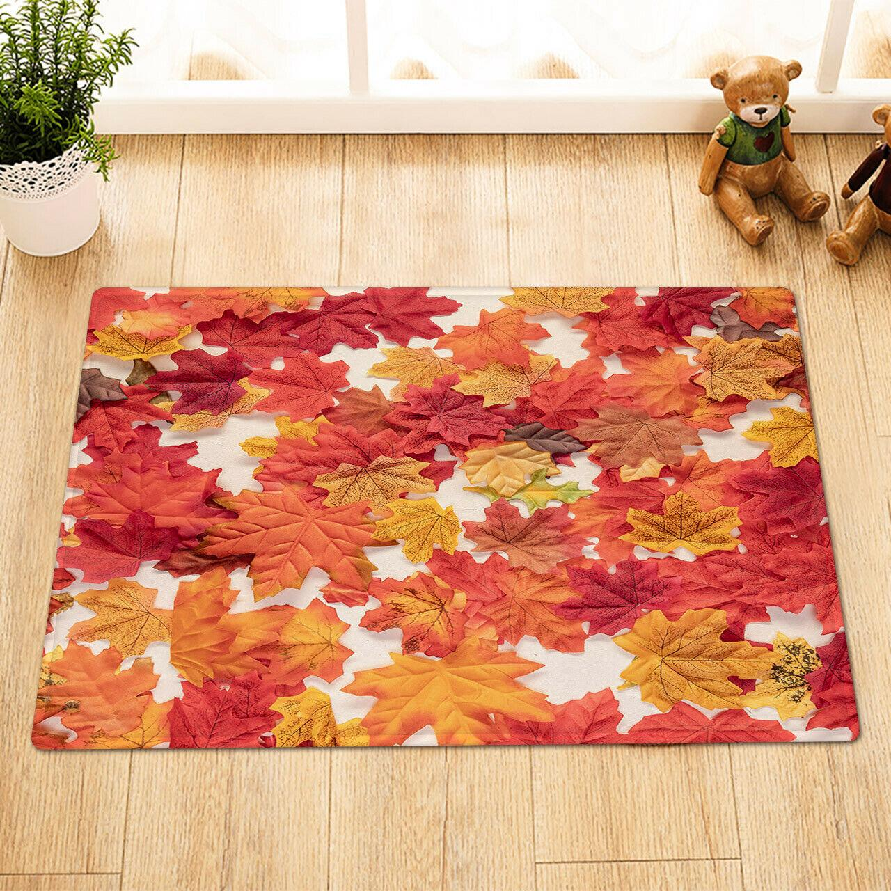Autumn Maple painting Bathroom Rug Non-Slip Floor Indoor Front Door Mat 16x24/""