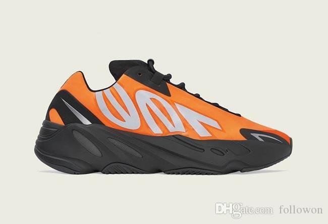 2020 700 V2 Orange Statisch und weise Luxus-Designer-Frauen-Männer Outdoor-Schuhe für Männer Neue Ankunft Sneakers Sneaker Trainer Größe 5-12