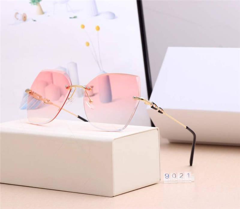جديد مصمم النظارات الشمسية وصول الصيف الرجال النساء نظارات شمسية UV400 9021 5 اللون خيارات ذات جودة عالية مع Box18
