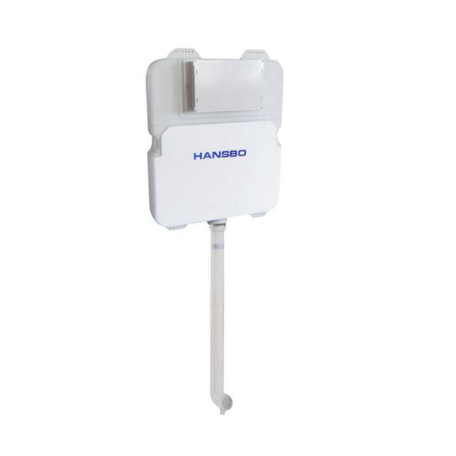 HANSBO Bad Spülkasten für Hockenwanne und Wand hängen Toilette Spülventil Wasserzeichen Zertifikat WC