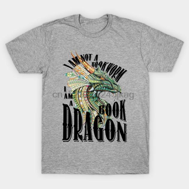 Männer T-Shirt I Am A Book Drache T-Shirt Frauen-T-Shirt