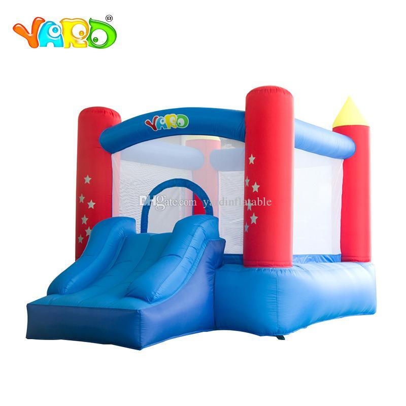 Jarda nylon casa inflável divertido bounce casa juegos inflável castelo bouncy pulando com corrediça