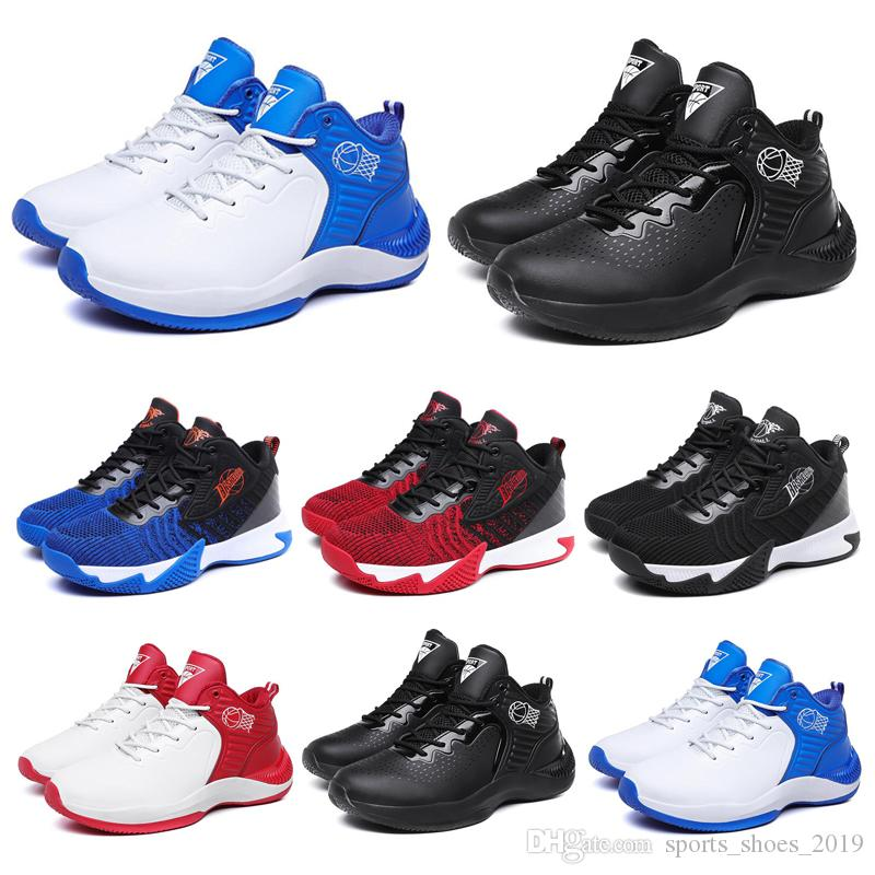 2020 hombres sin marca de moda el envío libre de las mujeres zapatos para correr Triple Negro Azul Rojo deportes para hombre zapatillas de deporte entrenador corredores 40-44 estilo # 25