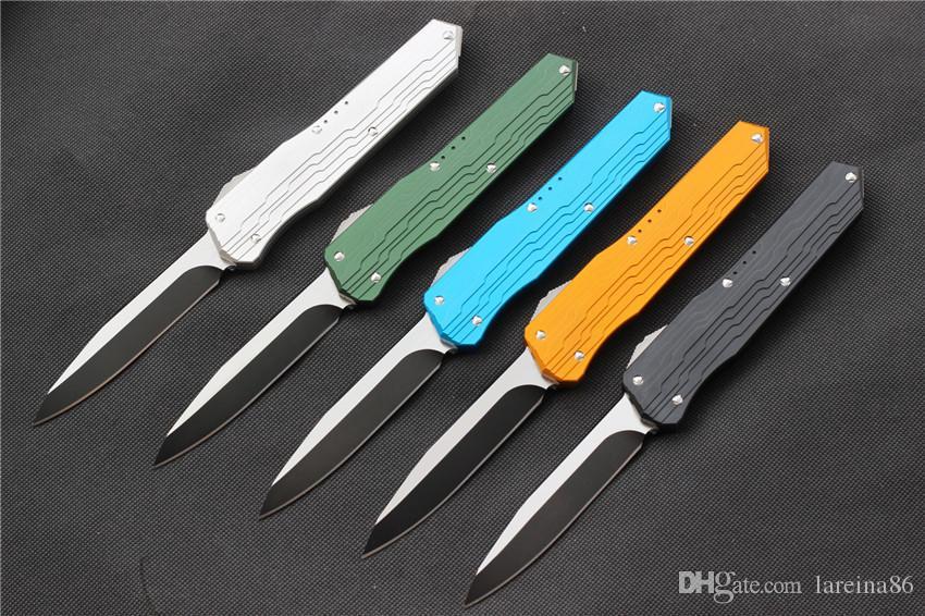 VESPA Versione coltello lama: D2 Maniglia: 7075Aluminum + TC4, il campeggio di sopravvivenza esterna EDC caccia tattico cena strumento coltello da cucina, trasporto libero