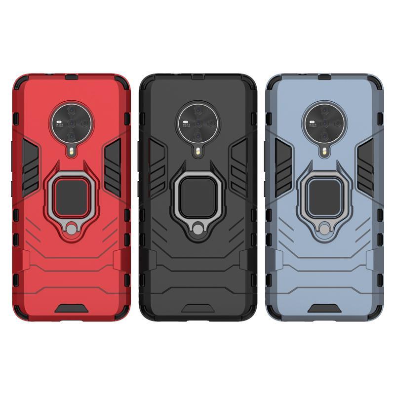 2 en 1 Armure antichocs cas pour VIVO S6 couverture avec support magnétique voiture téléphone et doigt RingKickstand