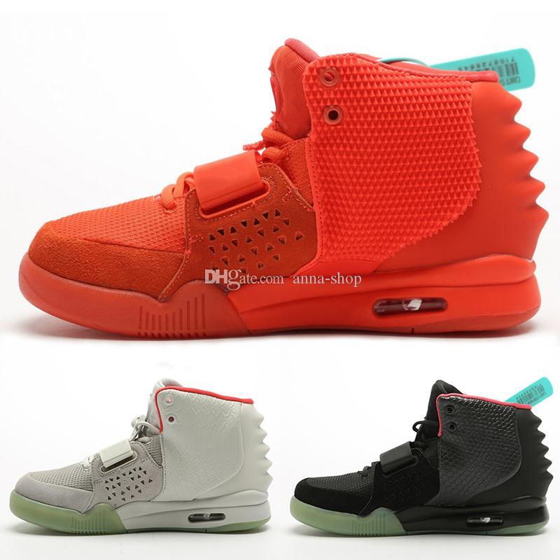 Kanye West Mens Solar Red Octorber Sneakers per scarpe sportive Sport scarpe kanyewest NRG illuminato della scarpa da tennis delle donne di marca degli addestratori degli uomini delle donne