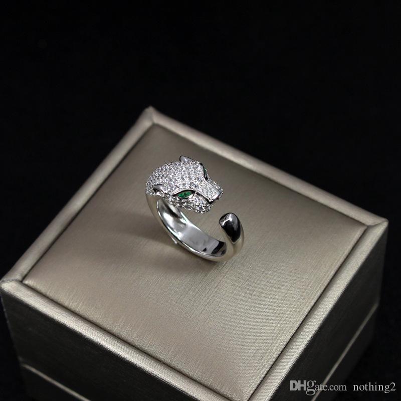 PANTHERE DE C Schmuck Ring S925 Sterlingsilber überzog verzierte beschmutzte Leopard-Ring-Frauen Domineering Ring