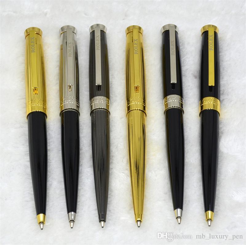 Accessori per la scrittura luxurys ROX Marchi Penna a sfera Scrittura cancelleria Oro Argento Metal Grey penna a sfera Business School ufficio regalo Penne