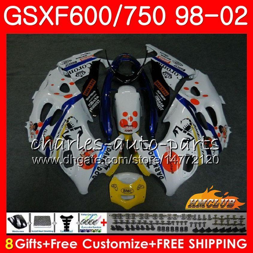 Suzuki Katana GSXF 750 600 GSXF600 Pepphone 핫 98 99 00 01 02 2HC.25 GSX750F GSX600F GSXF750 1998 1999 2000 2001 2002 페어링 키트