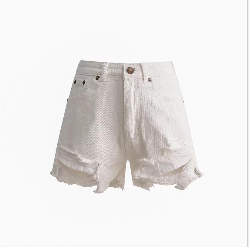 Designer de roupas femininas Buraco Nádegas Jeans Mulheres Primavera Shorts 2019 Nova Cintura Alta Curto Mulheres Roupas Casuais