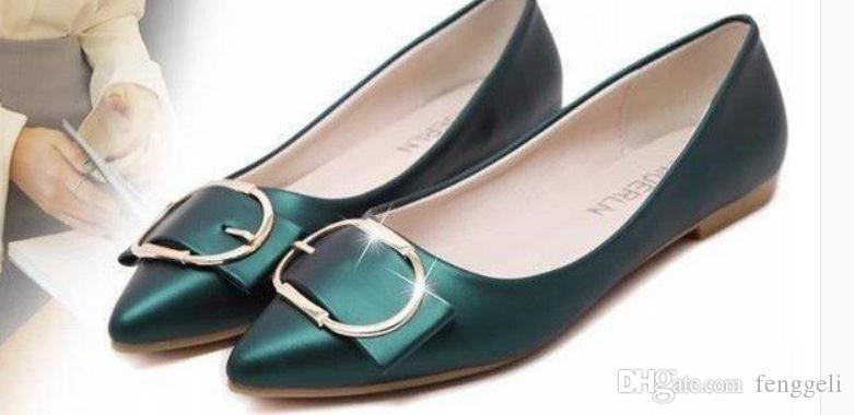 2019 zapatos de las mujeres en primavera y otoño con Piso nuevo estilo extremo puntiagudo inferior @ W138