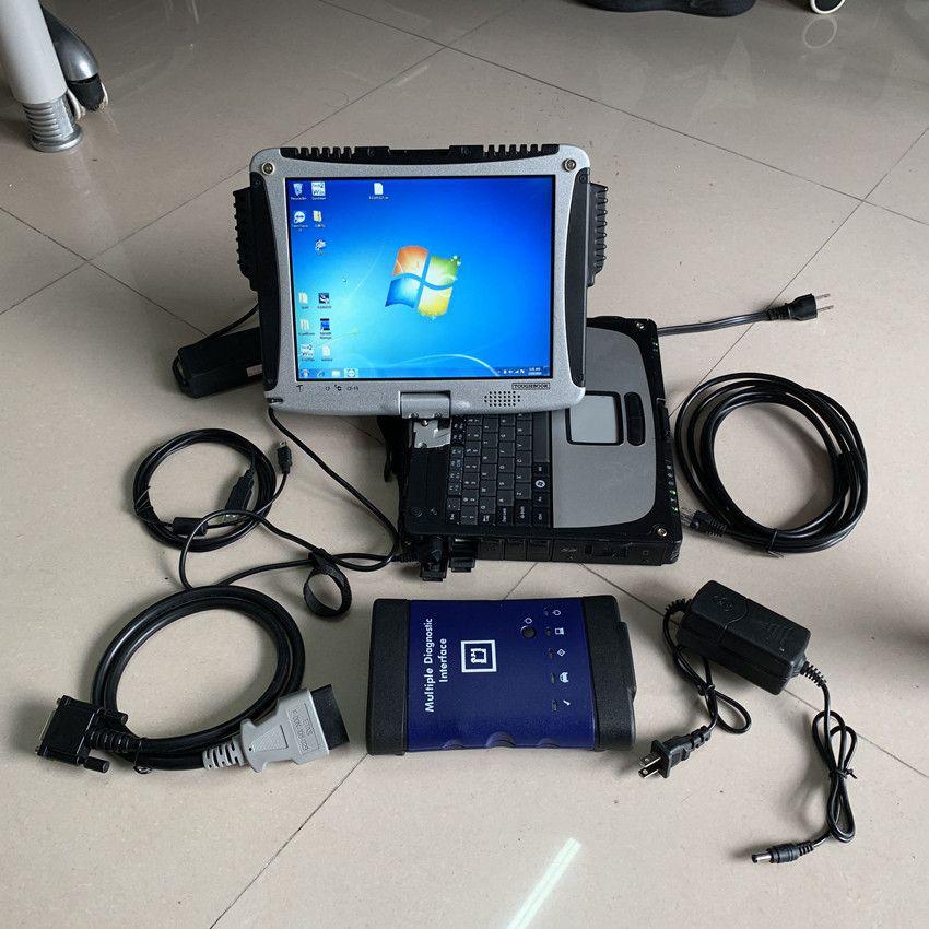Novo para G / M MDI Interface De Diagnóstico Múltipla Para G / M MDI WI-FI Scanner Multifálico MDI com cf19 laptop