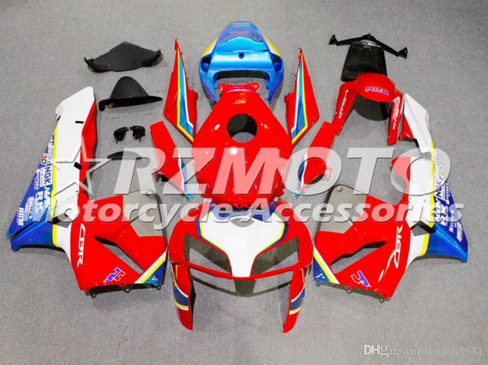 Molde de inyección de alta calidad Nuevos kits del carenado ABS en forma para HONDA CBR600RR F5 2005 2006 600RR carenados de carrocería establecen Rojo Blanco Azul