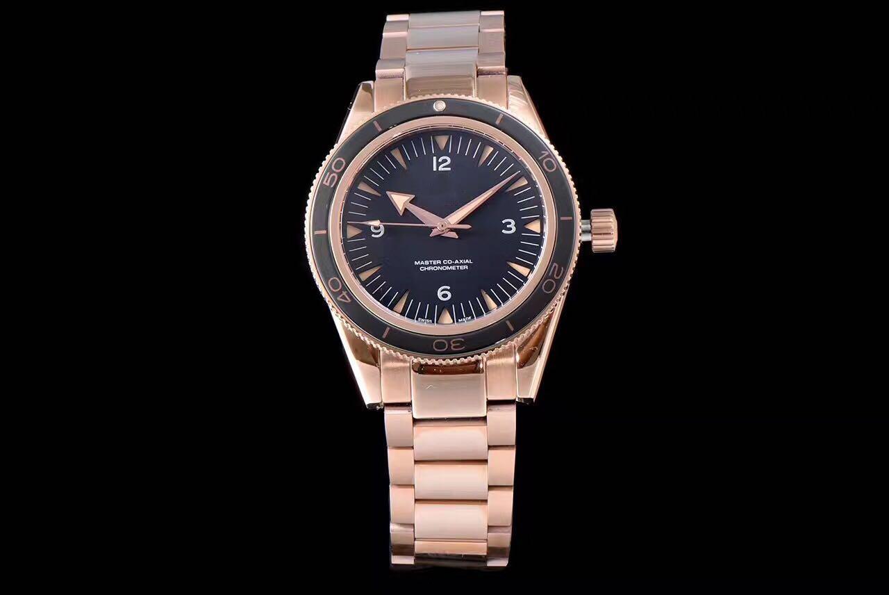 movimiento súper orologio di Lusso Japón meyota relojes 41,5 mm de diámetro nominal. Refinado diseñador correa de acero relojes 100 metros resistente al agua