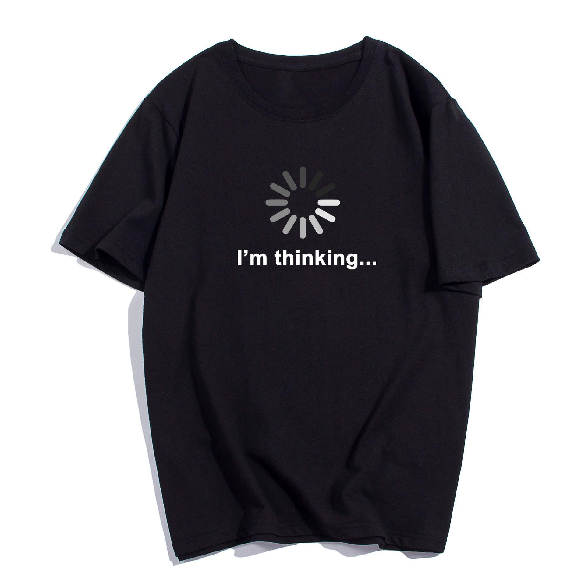Camiseta con cuello redondo de 2019 Estoy pensando Divertido Impreso Hombres Camiseta de manga corta Depeche Mode Tops Casual Fashion T-shirt T0094