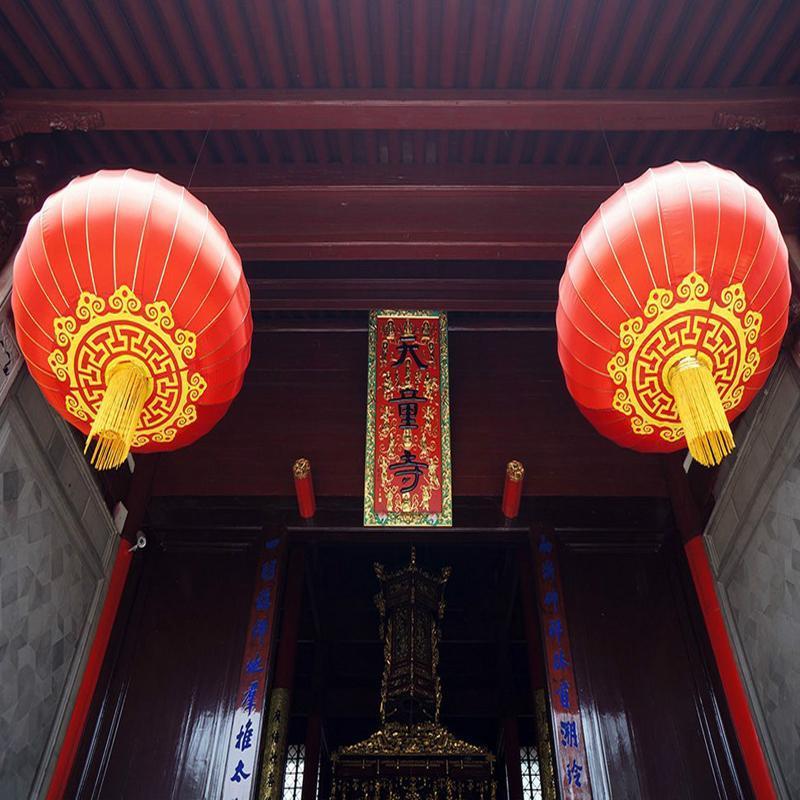 2PC cinesi Lanterne rosse 40cm Articoli Festival del Capodanno cinese Wedding casa Chinatown Cultura di nozze