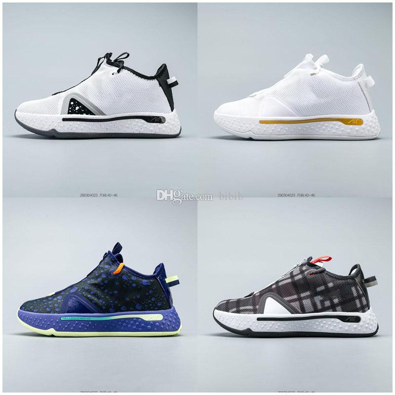 أحذية بول جورج PG 4 أطفال لكرة السلة أولي جاتوريد × الرياضة وصول المدربين رخيصة أحذية NASA زيبر تكبير الرجال الأرجواني 4S