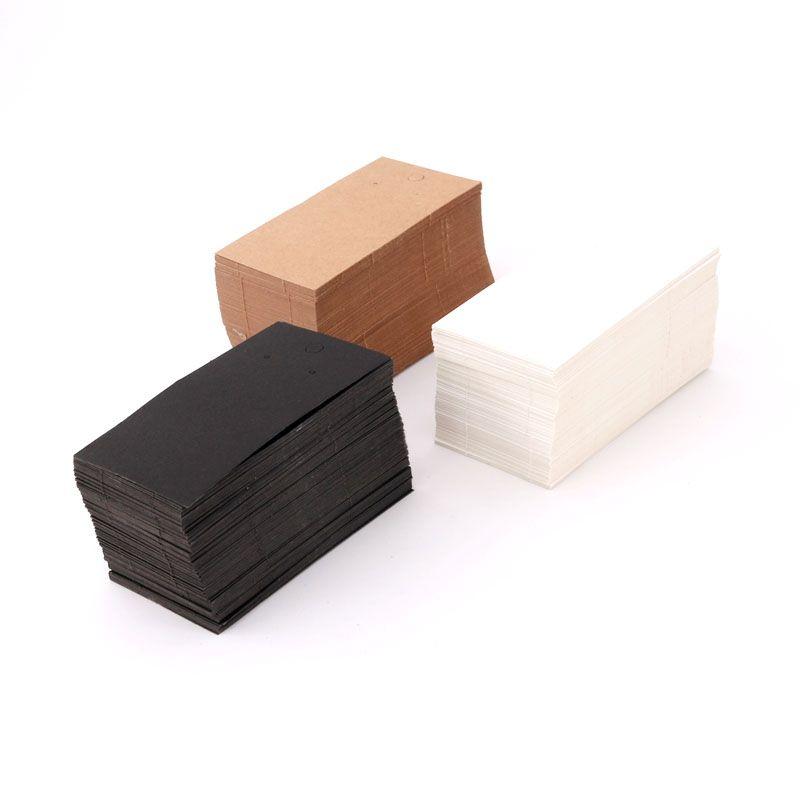 الأزياء والمجوهرات 500PCS بطاقة قلادة القرط التعبئة / الكثير الجملة اكسسوارات عرض القرط تسمية بطاقة هانغ ثمن