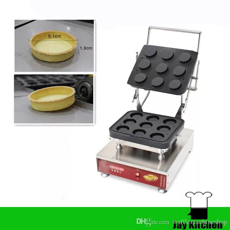 Ticari 9-Delik Tartlet Kabuk Makinesi Yumurta Tart Makinesi Yumurta Tart Kabuk Makinesi Waffle Koni Makinesi Waffle Kase Makinesi