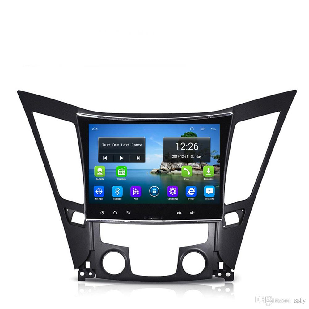 Android 4G LTE HD 1080P fast delivery car excellent bluetooth free map front camera for Hyundai sonata i40 i45 2011-2015 10.1inch