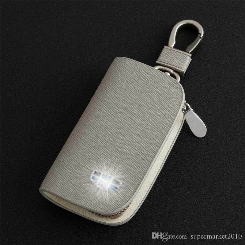 Car key cover for bmw Volkswagen vw polo toyota mercedes benz mazda lexus nissan key case bags auto keychain Leather