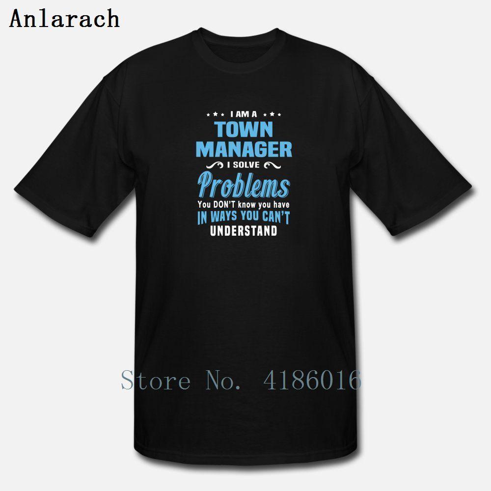 Город менеджер T Shirt Стандартной весна осень Anti-Wrinkle дышащей Печать с коротким рукавом Стандартного Евро размером S-5xl рубашка