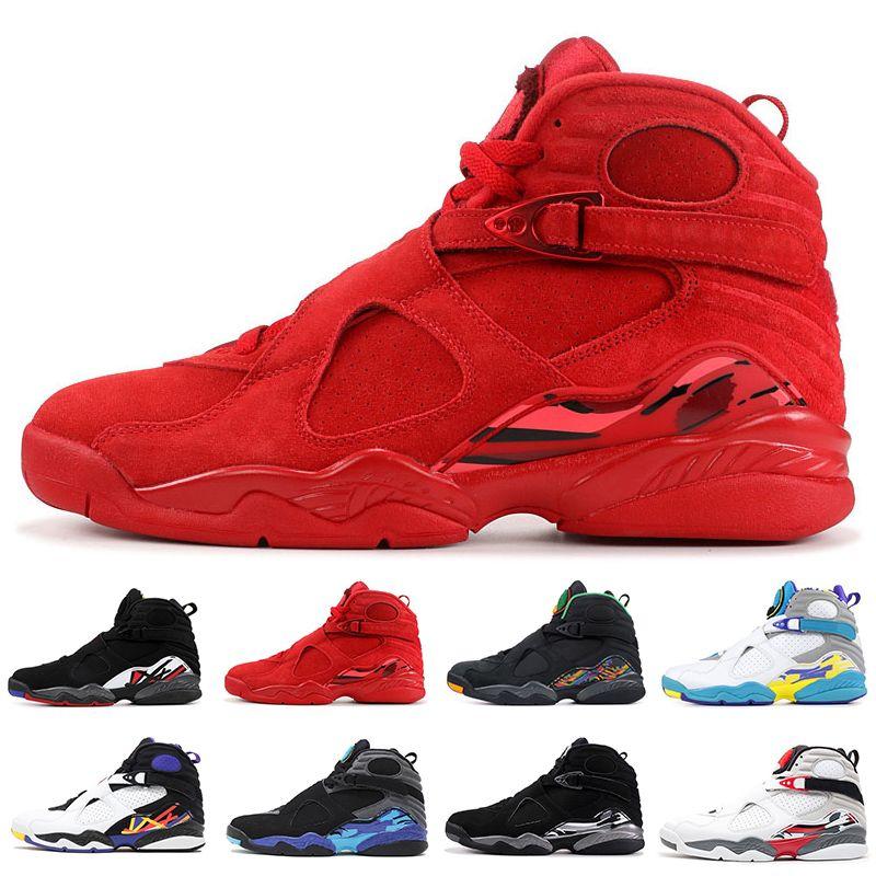 nike air jordan 8 retro zapatos de baloncesto para hombres 8 día